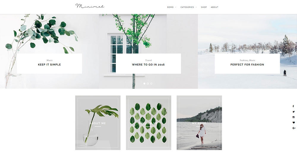 ZMinimal - Minimalist Blog Theme for Creatives